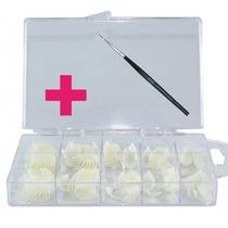 Unha Postiça Para Acrigel Nail Tips 100 Unid + Pincel Decora