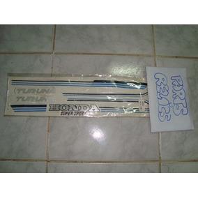 Adesivos Jogo De Faixas 125 Honda Turuna Azul 81 / 82