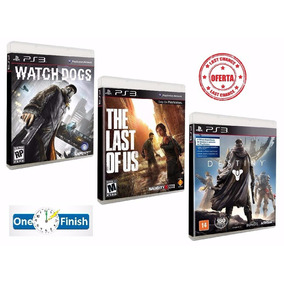 Game Watch Dogs + The Last Of Us + Destiny - Ps3