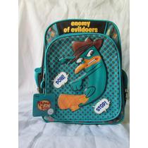 Mochila Perry Ornitorrinco Disney Original Ideal Para Kinder