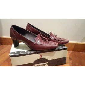 Mocasines Stilettos Bordo.talle36