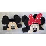Servilleteros De Mickey Y Minnie En Porcelana Fria