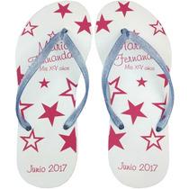Sandalias Personalizadas $22 Bodas Xv Años Publicidad