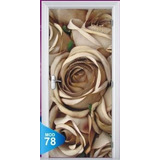 Adesivo 123 Porta Quarto Sala Rosas Flores Girassol Orquidea