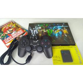 Playstation 2+ 2 Controles E 5 Jogos
