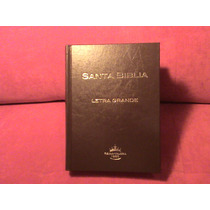 Biblia Mediana Letra Grande Indice Tapa Dura Cafe Rv60