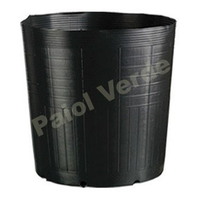 50 Vasos Pote Preto Para Mudas Plastico 15 Litros