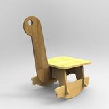 Silla Infantil Mecedora Diseños Sustentable Didactico Madera