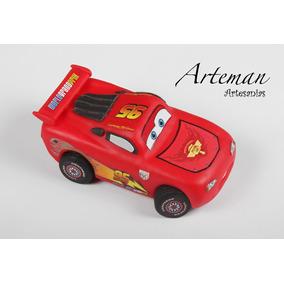 Cars Rayo Mc Queen, En Porcelana Fría Adorno Para Torta