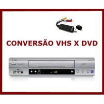 Videocassete Conversão Vhs Para Dvd Digital, Pronta Entrega!