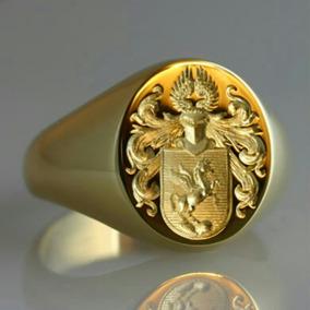 Anel Brassão Sinete Personalizado Ouro 17gr