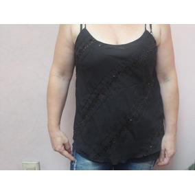 Musculosas De Gasa Bordada Con Lentejuelas - Lote