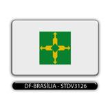 Adesivo Automotivo Bandeira Estado Df Brasilia Resinado