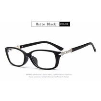 Armação Óculos D Grau Acetato Quadrado Feminino Pedrinhas Za