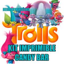 Kit Imprimible Trolls Invitacion Fiesta Editable Powerpoint