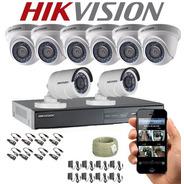 Cámaras De Seguridad Kit Cctv 720p Hikvision Dvr 8ch + 8 Cám