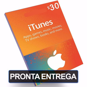 Cartão Itunes Gift Card $30 Dólares - Contas Americanas