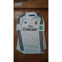 Jersey Adidas Real Madrid 2015 Local Manga Larga Clubs 2014