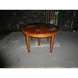 Mesa Comedor Antigua Roble, 12 Pers. 130 X 265 Cm 3 Extens