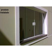 Janela Blindex Kit M² 4 Folhas Vidro 8mm Incolor - Completo