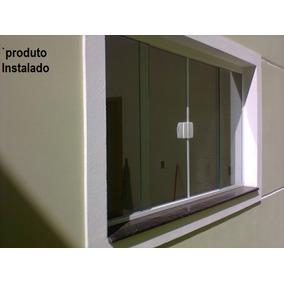 Janela Blindex Kit M² 4 Folhas Vidro 8mm Bronze - Completo