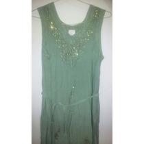 Vestido De Diseño Verde Mujer Talle M