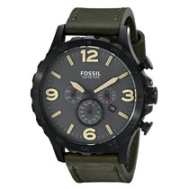 Relógio Masculino Fossil Jr1476 Nate Couro Caixa Grande 50mm