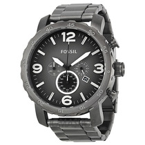 Relógio Masculino Fossil Jr1437 Nate Metal Caixa Grande 50mm