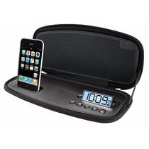 Bocina Portátil Reloj Despertador Para Ipod Ihome Ip38
