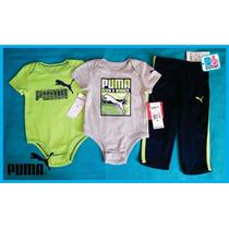 Padrisimo Conjunto Puma Niño 3 Pzas 6 Y 24 Meses Envío Grati