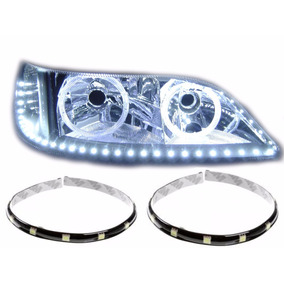 Fita Tira Led Branca Tuning Carro Moto Flexivel 30cm Par