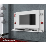 Home Painel Tv Led Lcd Parede Fixo 32 42 46 50 55 Branco