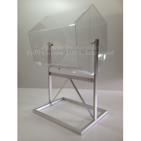 Tombola De Acrílico Con Base De Aluminio Para Rifas Y Sorteo