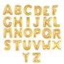 Balão Metalizado Letra Dourada Mini - A Á Z: Kit 4 Unidades