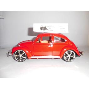 Fusca Miniatura 1/18 Em Metal Pintura Automotiva Vermelho