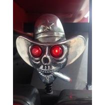 Caveira Cowboy Acende Olho Caminhão Moto Frete Grátis