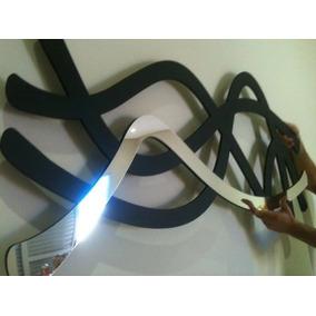 Quadro Abstrato Escultura Parede Mdf C/ Espelho 1,20 M-tam M