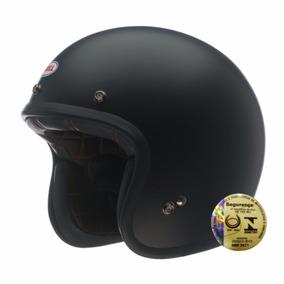 Capacete Bell Aberto Custom 500 Solid Black Preto Fosco