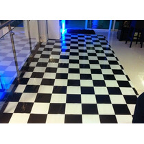 Tapete Xadrez - 4x4m - 16m² - Pista De Dança - Dj Festa Piso