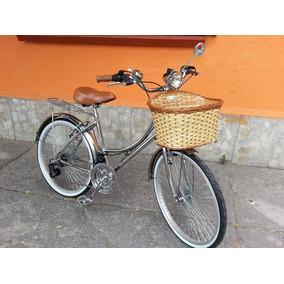 Bicicleta Retro Cromada Dama Caballero Colores 12velocidade