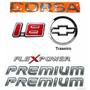 Emblemas Corsa Hatch 1.8 Flex + Premium + Mala - 2003 À 2007