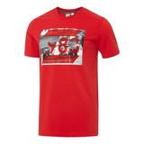 Camiseta Masculina Puma Ferrari Graphic Tee - Puma - Vermelh