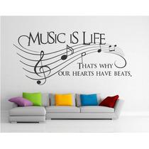Adesivo Decorativo De Parede Notas Musicais Partituras