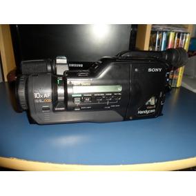 Antiga Filmadora Vhs Sony Ta Com Carregado Bom Não Fusiona