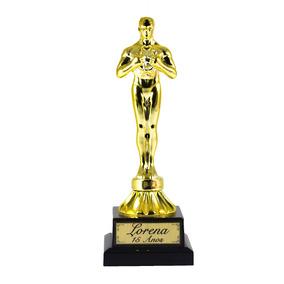Troféu Oscar Base Quadrada Personalizado
