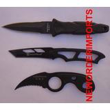 Kit 3 Facas Táticas De Bota Cinto Pescoço Smith & Wesson