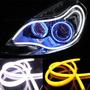 2 Tiras Led Flexibles Luz De Dia 60 Cms Bicolor Blanca Ambar