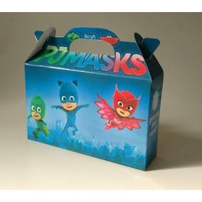 Valijitas Cajita Pj Masks Héroes En Pijamas Pack X40
