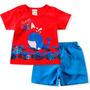 Conjunto Camiseta Bermuda Oceano Boca Grande