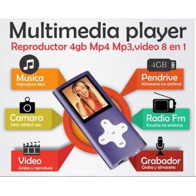 Reproductor 4gb Mp4 Mp3, Video Camara 8 En Uno